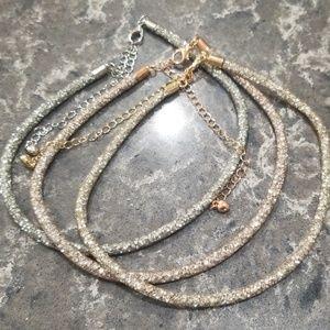 Glitter choker necklaces